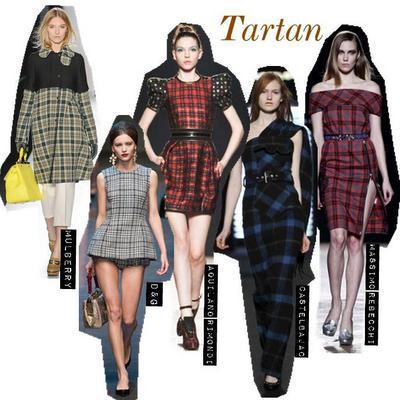 Τartan  Το αυστηρό καρό, δίνει τη θέση  του φέτος σε πιο ανάλαφρα σχέδια. Ευκολοφόρετα παλτό, φορέματα και αξεσουάρ συνθέτουν μοντέρνες και ενδιαφέρουσες δημιουργίες.    Από το κλασσικό κόκκινο, μέχρι