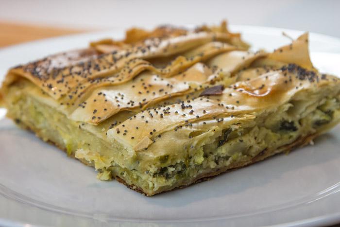 Πρασοκολοκυθόπιτα με Μανούρι (κάνε κλικ στη φωτογραφία για να δεις τη συνταγή)