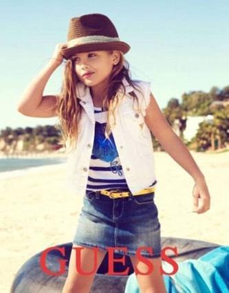 Εντυπωσιάζει η μικρή Ντανιελίν στην καμπάνια για τα παιδικά ρούχα της φίρμας Guess