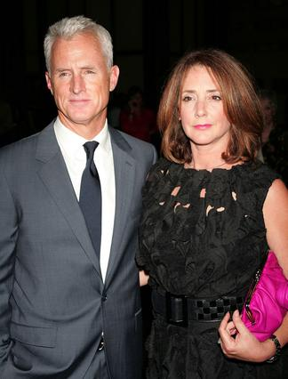 Η πρώτη -και τελευταία καθώς φαίνεται- κυρία Κλούνεϊ, Τάλια Μπάλσαμ, με τον νυν σύζυγό της, πρωταγωνιστή της τηλεοπτικής σειράς  Mad Men , Τζον Σλάτερι.