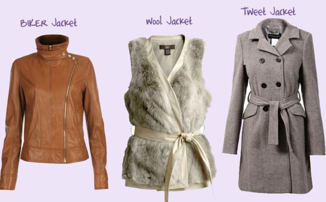 Και θα σε ζεστάνουν και θα δείχνεις στυλάτη! Από αριστερά προς τα δεξιά: το μπουφάν μηχανής, το γούνινο γιλέκο και το μακρύ μαντό