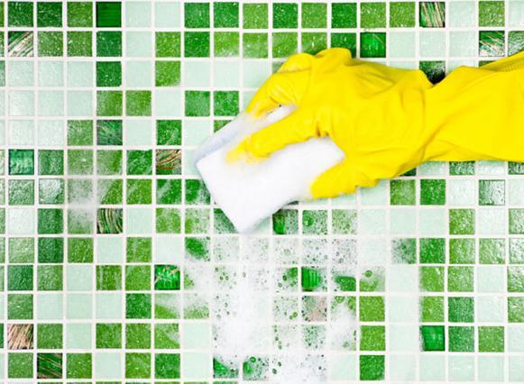 Η αμμωνία μπορεί να χρησιμοποιηθεί  ακόμη και στα πλακάκια του μπάνιου.