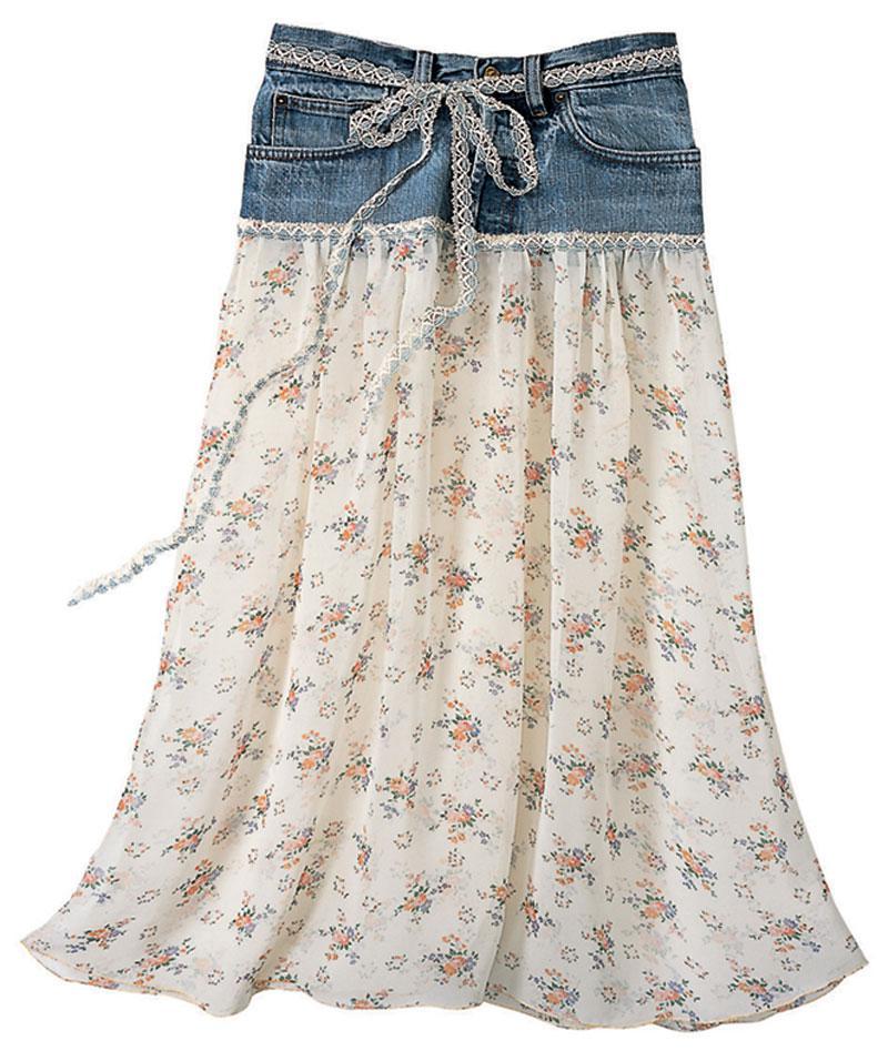 Και μια απλή τζιν φούστα μπορεί εύκολα μεταμορφωθεί