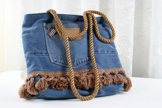 Φτιάξε μια ωραία τσάντα από το παλιό σου τζιν!