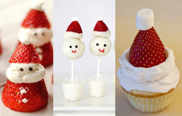 Μπορεί οι φράουλες να είναι φρούτο καλοκαιρινό, αυτό όμως δε σημαίνει πως δεν μπορείς να τις χρησιμοποιήσεις και μέσα στο καταχείμωνο, για να διακοσμήσεις γιορτινά τα γλυκάκια σου. Το σχήμα τους και τ