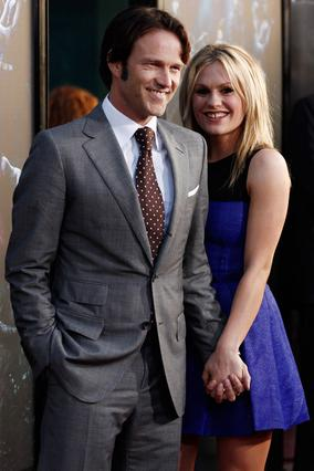 Η Άνα με τον αρραβωνιαστικό  και συμπρωταγωνιστή της στο   True Blood , Στέφεν Μόγιερ.