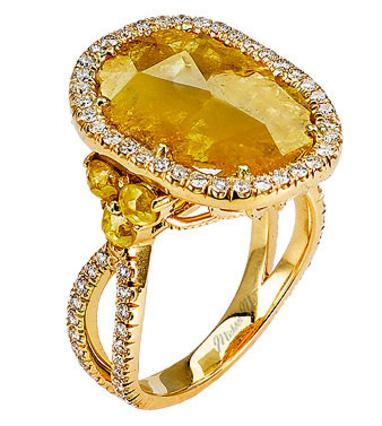 Το δαχτυλίδι που διάλεξε ο Τζάστιν Θερού φέρει την υπογραφή του διάσημου κοσμηματοπώλη Michael M. όπως και αυτό της φωτογραφίας που του μοιάζει πάρα πολύ. Έτσι, για να πάρετε μια γεύση περί μεγέθους!