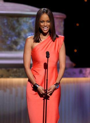 Η Μπανκς στην τελετή των Emmy,  τον Αύγουστο, λίγο πριν τη βράβευση της.