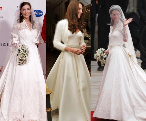 Ακόμα δεν έγινε ο γάμος, τα νυφικά που μοιάζουν με εκείνο της Κάθριν, είναι ήδη έτοιμα!