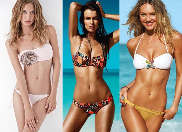 Pinks Sands, H&M και Victoria's Secret: λένε ναι στο στράπλες μαγιό για το καλοκαίρι του 2011.
