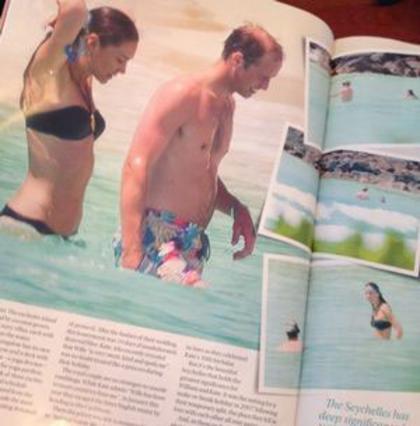 Γύρω στις 15 είναι στο σύνολο οι φωτογραφίες που δημοσιεύει το αυστραλέζικο περιοδικό από το πριγκιπικό ταξίδι του μέλιτος στις Σεϋχέλλες.