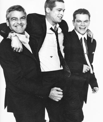 Τζορτζ Κλούνεϊ, Μπραντ Πιτ, Ματ Ντέιμον: Τα φιλαράκια τα καλά, αλλά ο Ντέιμον... περισσότερο! Τι να κάνεις; Ένας μπορεί να είναι ο κουμπάρος!