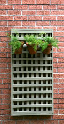 Αν θέλεις να δώσεις ένα άλλο  ύφος στον κήπο σου, κρέμασε μερικές γλάστρες σε κάποιον τοίχο,  μόνες τους, ή σε ξύλινη βάση.