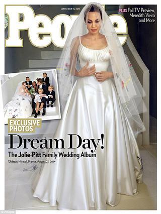 $5 εκ. οι φωτογραφίες γάμου των Μπραντζελίνα
