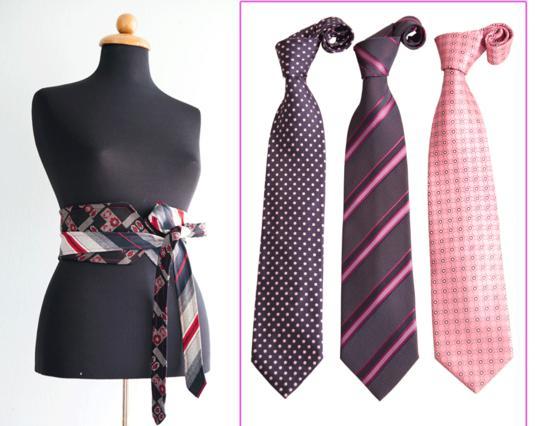Δύο γραβάτες φτιάχνουν μια τρέντι ζώνη!