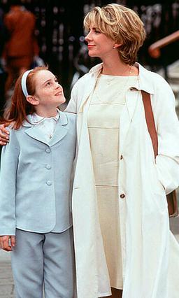Η Λίντσεϊ Λόχαν με την αδικοχαμένη  Νατάσα Ρίτσαρντσον στην ταινία   Parent Trap  του 1998.