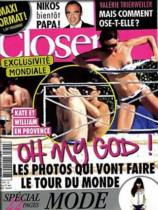 Το εξώφυλλο του περιοδικού Closer που κυκλοφόρησε σήμερα στη Γαλλία και προκάλεσε... σεισμό στο Μπάκινχαμ!