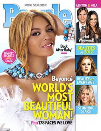 Οι αναγνώστες του περιοδικού  People  ψήφισε την Μπιγιονσέ ως την ωραιότερη γυναίκα του κόσμου για το 2012.