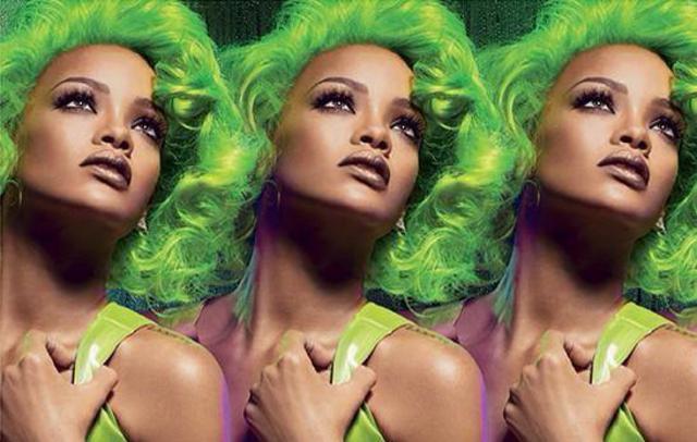 Ουπς! Η Ριάνα τα έβαψε πράσινα!