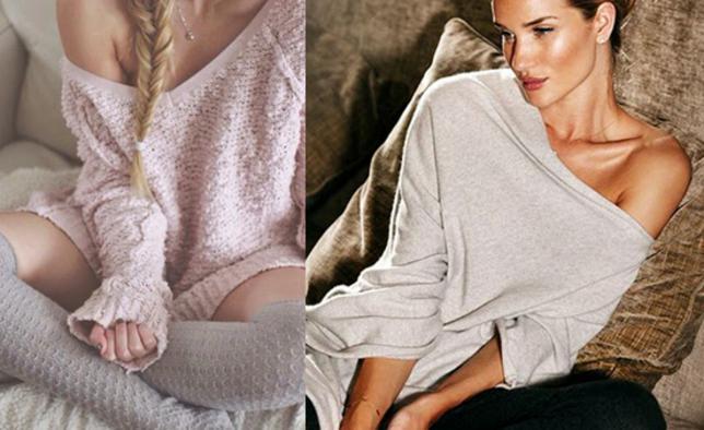 Τι κάνουμε λοιπόν για σέξι και cozy homewear; Πρώτα πρώτα ένα oversized πουλόβερ ή μια  μπόλικη  ζακέτα είναι ότι πρέπει για από πάνω. Από εκεί και πέρα έχεις το χοντρό καλσόν, το μαλακό κολάν ή για