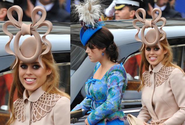 Η Βεατρίκη και η Ευγενία προκάλεσαν  ποικίλα σχόλια στον πριγκιπικό γάμο!