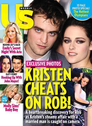 Το σκάνδαλο ξέσπασε τον Αύγουστο, όταν το περιοδικό Us δημοσίευσε τις επίμαχες φωτογραφίες της Κρίστεν με τον Ρούπερτ Σάντερς.