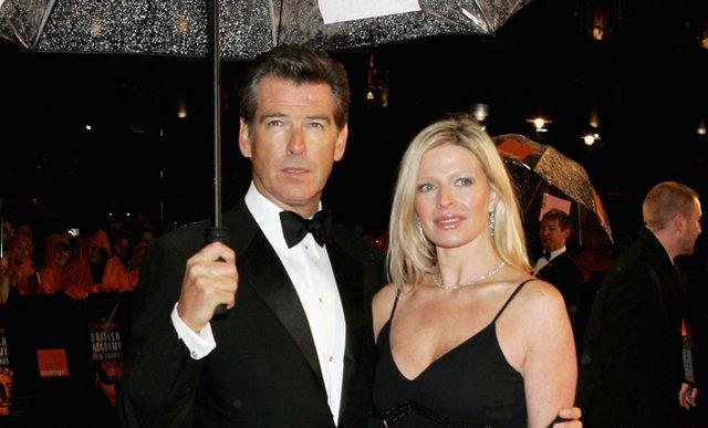Ο Πιρς με την κόρη του, Σαρλότ, σε κοινή τους εμφάνιση το 2006.