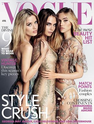 "<p>Το εξώφυλλο της ""Vogue"" για τον Απρίλιο έχει αέρα άνοιξης και νιότης. Ο <strong>Μάριο Τεστίνο</strong> (Mario Testino) φωτογραφίζει τη<strong> Τζόρτζια Μέι Τζάγκερ</strong> (Georgia May J"
