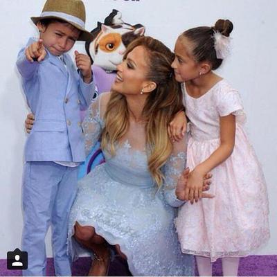 "<p><strong>Στην πρεμιέρα της ταινίας κινουμένων σχεδίων ""Home"" </strong>όπου δανείζει τη φωνή της πήγε ντυμένη στα γαλάζια η Τζένιφερ Λόπεζ (Jennifer Lopez) με την καλύτερη παρέα του κόσμου,"