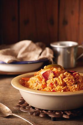 Ισπανικό ρύζι με γαρίδες