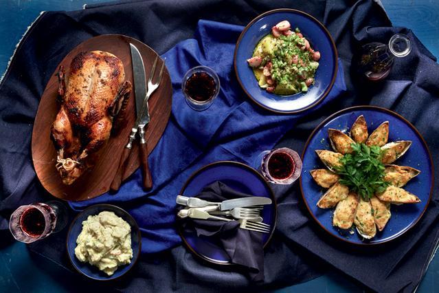 Σαλάτα με σέλερι, ψητά ραπανάκια, πατάτες και κύμινο
