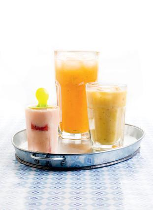 Παγωτάκια με καρπούζι, γιαούρτι και φρούτα