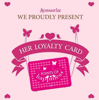 Κέρδισε πόντους ευτυχίας από την κάρτα των Accessorize