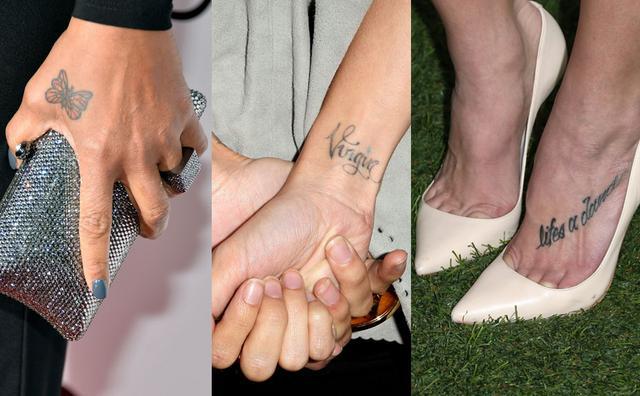 Πάρε έμπνευση από τα τατουάζ της Queen Latifah (αριστερά), Νικόλ Ρίτσι (κέντρο) και Άσλεϊ Γκριν.