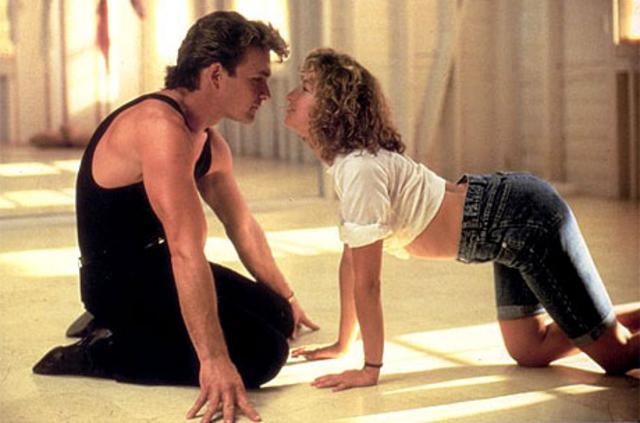 Με τη Τζένιφερ Γκρέι στην πρώτη μεγάλη του κινηματογραφική επιτυχία  Dirty Dancing .