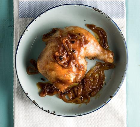 Κοτόπουλο με μουστάρδα και πετιμέζι