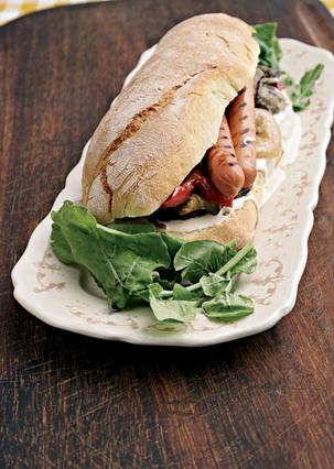 Σάντουιτς με λουκάνικα