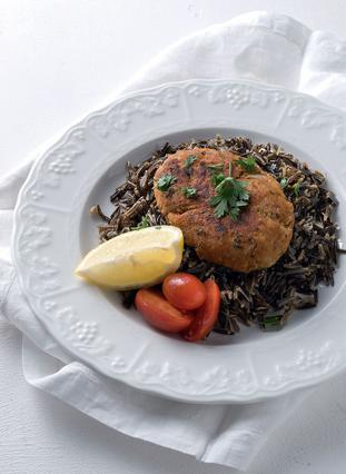Μπιφτέκι κοτόπουλου με μαύρο ρύζι