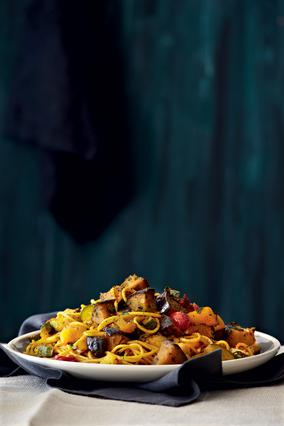 Σπαγγέτι με ραγού λαχανικών