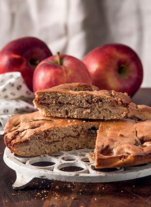 Κέικ μήλου με άρωμα καφέ
