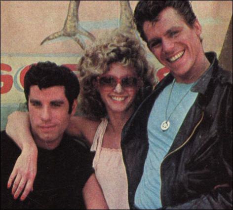 Ο Τζεφ Κόναγουεϊ, μαζί με τον Τζον Τραβόλτα και την Ολίβια Νιούτον Τζον στο θρυλικό  Grease  του 1978.