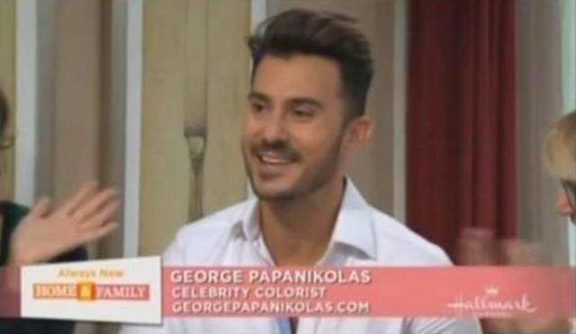 Ο ελληνικής καταγωγής κόλοριστ, δηλαδή ειδικός στις βαφές, Τζορτζ Παπανικόλας καμαρώνει για το ξανθό μπαλαγιάζ της Κιμ Καρντάσιαν.