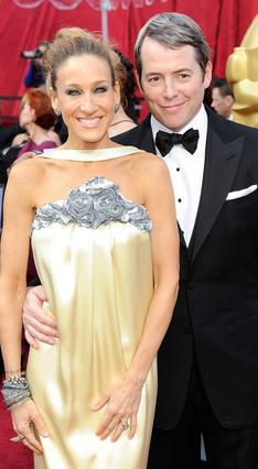 Η Σάρα Τζέσικα Πάρκερ με τον  σύζυγό της Μάθιου Μπρόντερικ στα φετινά βραβεία Όσκαρ.
