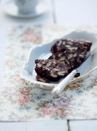 Μωσαικό με μπισκότα πτι μπερ και καφέ