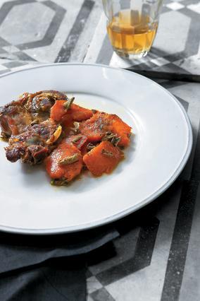 Χοιρινό με γλυκοπατάτες στον φούρνο