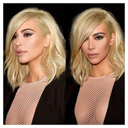 Η Κιμ αποκαλύπτει την έμπνευση για το πλατινέ μαλλί