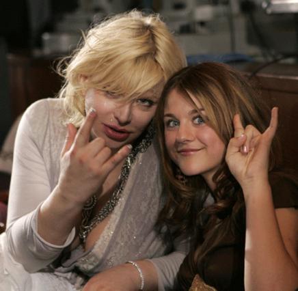 Η Κόρτνεϊ με την 17χρονη κόρη της Φράνσις