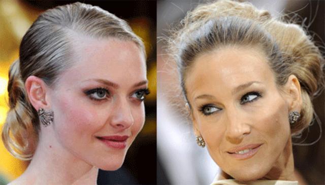 Αμάντα Σέφιλντ και Σάρα Τζέσικα Πάρκερ αναδεικνύουν το κότσο πάνω στο ξανθό μαλλί!