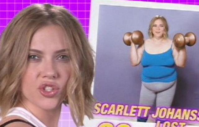 Η Σκάρλετ Γιόχανσον χοντρή; Ή μάλλον: τόσο χοντρή; Μπααααα