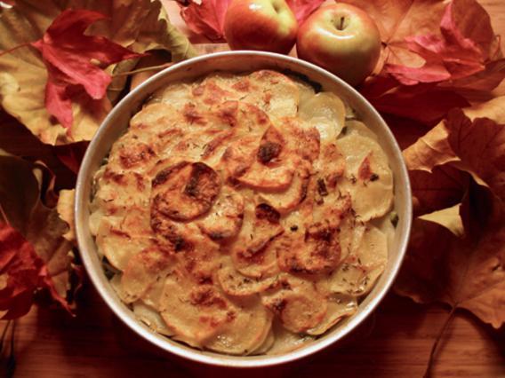 Πατάτες και μανιτάρια ογκρατέν